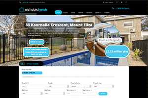 Mobile Responsive Website Design - image Nicholas-Lynch-Real-Estate on https://www.redbackwebs.com.au